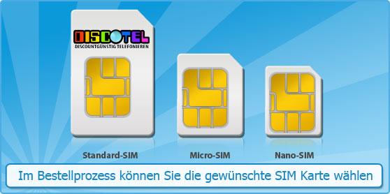 nano sim karte bestellen Welche SIM Karte benötige ich?