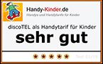 discoTEL sehr gut - Handytarif für Kinder