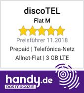 discoTEL Flat M - Preisführer Allnet Flat 3 GB LTE