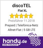 discoTEL Flat XL - Preisführer Allnet Flat 5 GB LTE